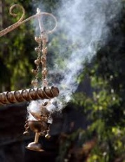 Frankincense in a thurible