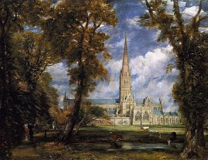 tp 9 Salisbury_Cathedral_from_the_Bishop_Grounds_c.1825
