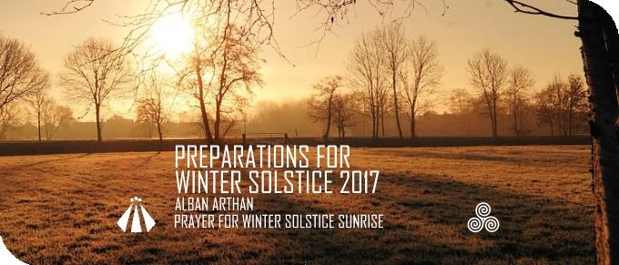 20171215 PREP FOR WINTER SOLSCTICE PRAYER FOR SUNRISE